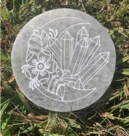 Pelham Grayson Crystal Moon Etched Selenite Disc