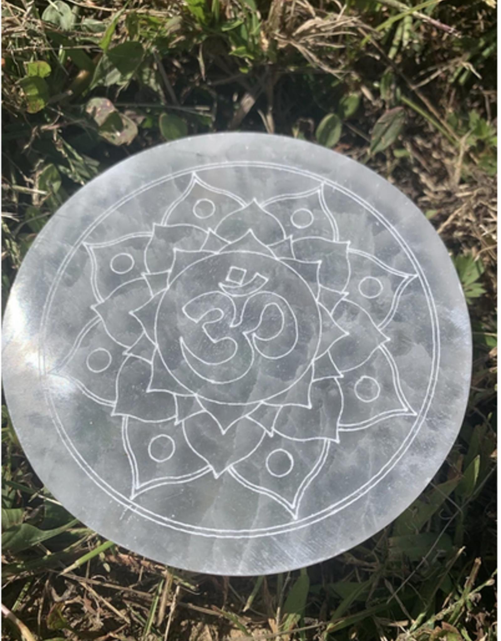 Pelham Grayson Ohm Mandala Selenite Disc