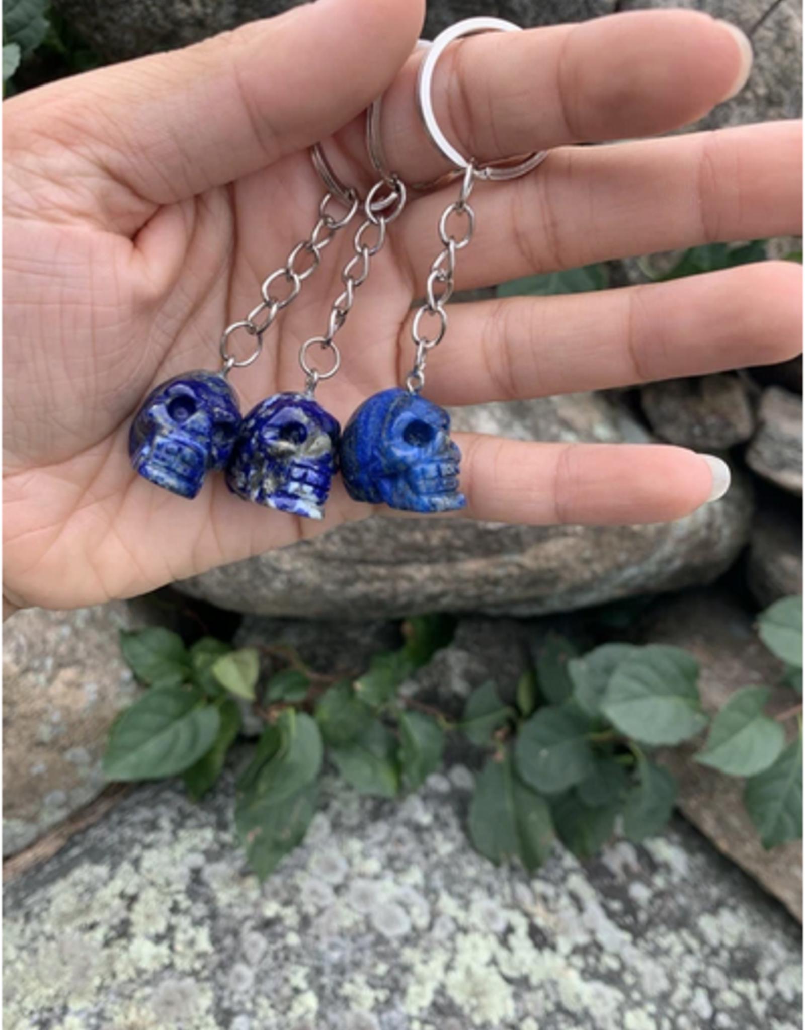 Pelham Grayson Crystal Skull Keychain