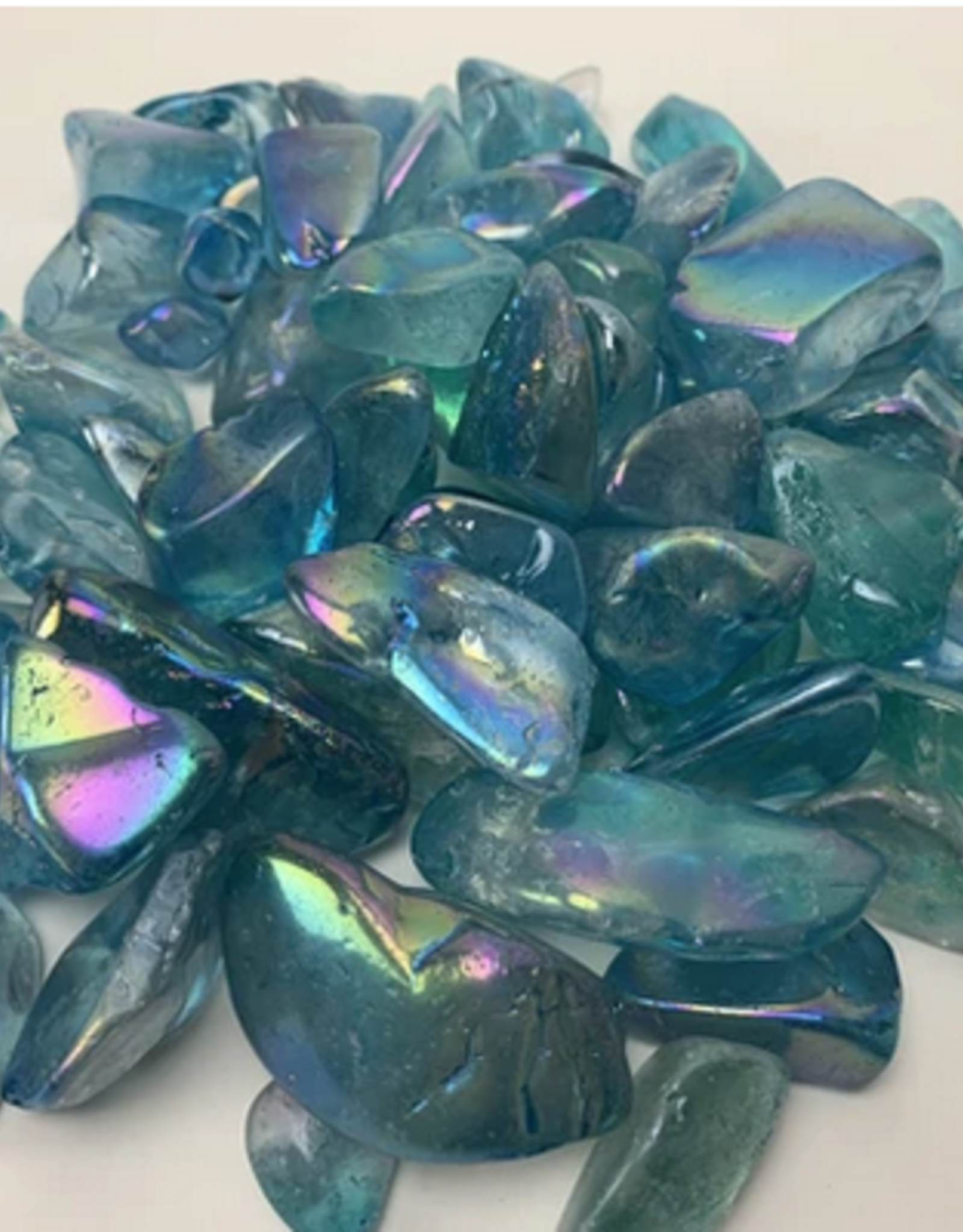 Pelham Grayson Blue Aura Quartz tumbled