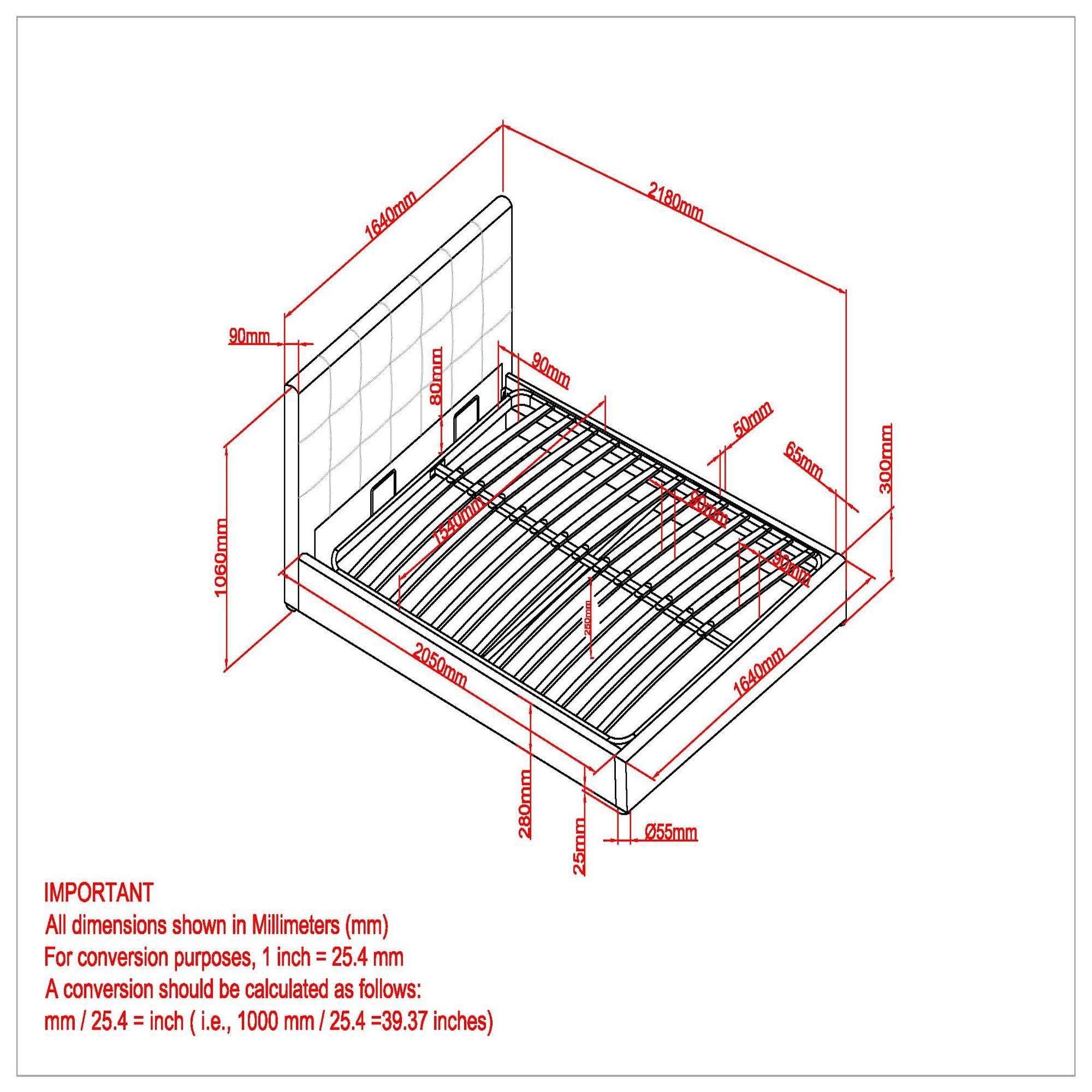 "Extara 60"" Queen Platform Storage Bed in Beige"