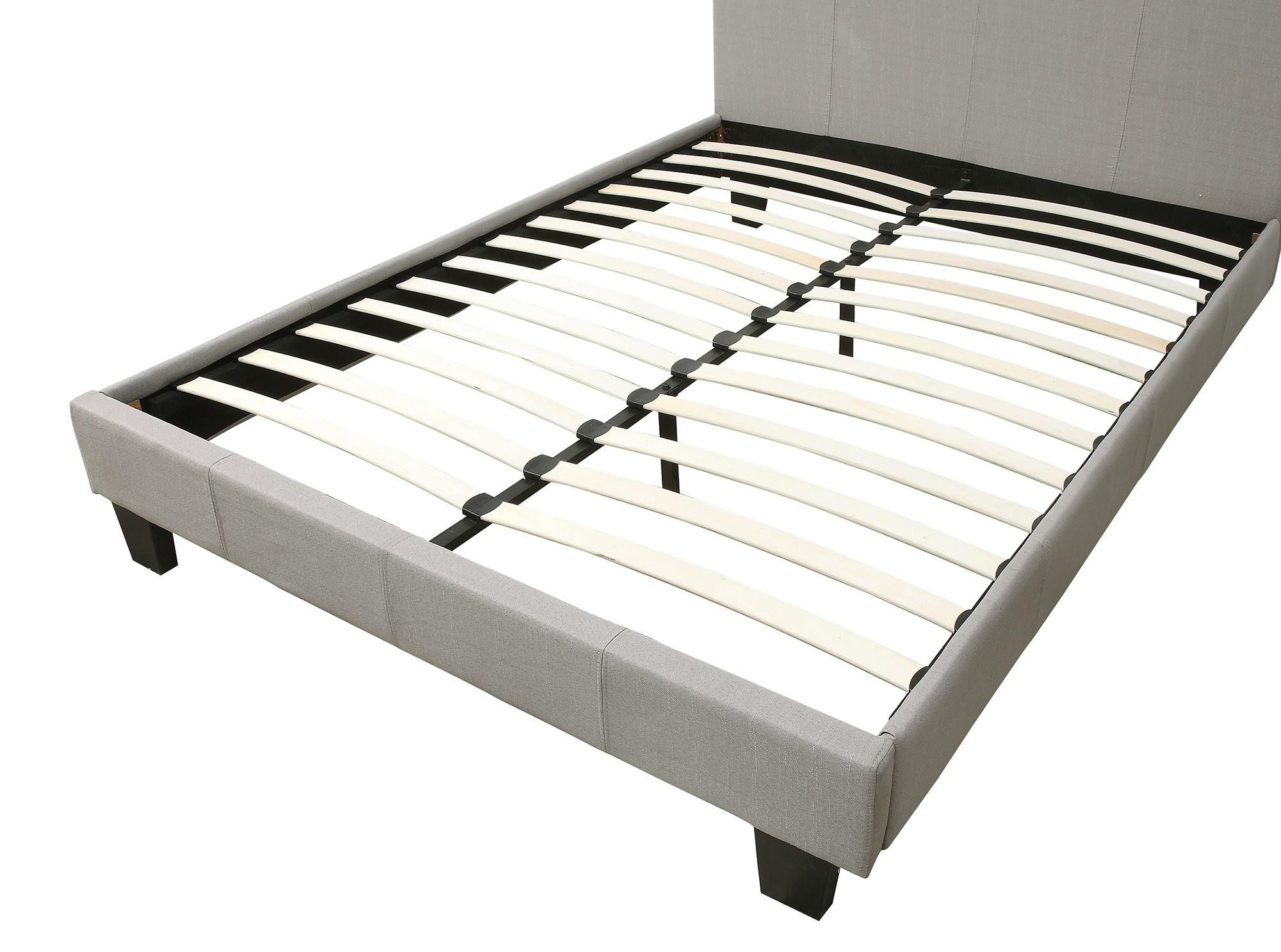 "Nevis 54"" Platform Bed in Grey"