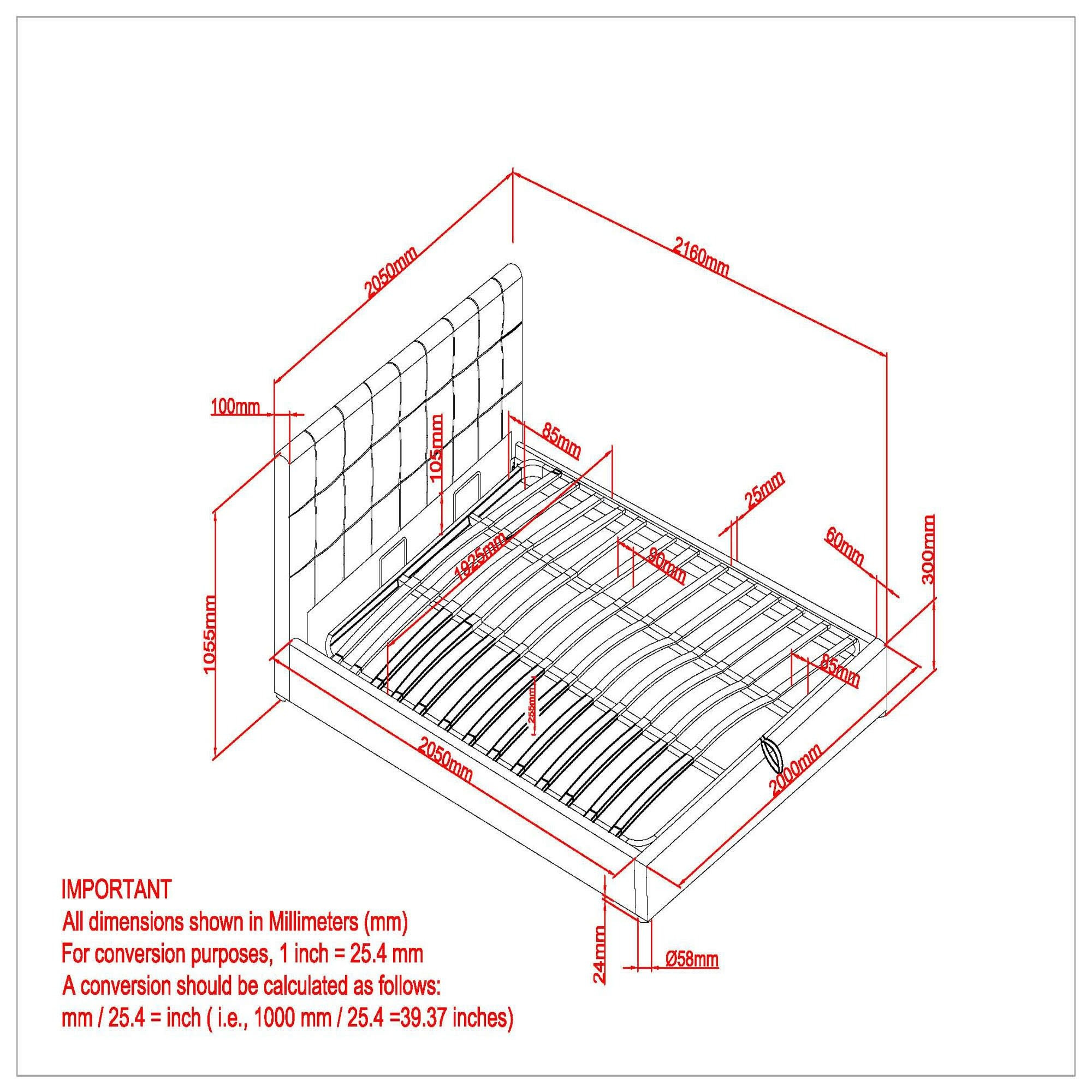 "Extara 78"" King Platform Storage Bed in Grey"