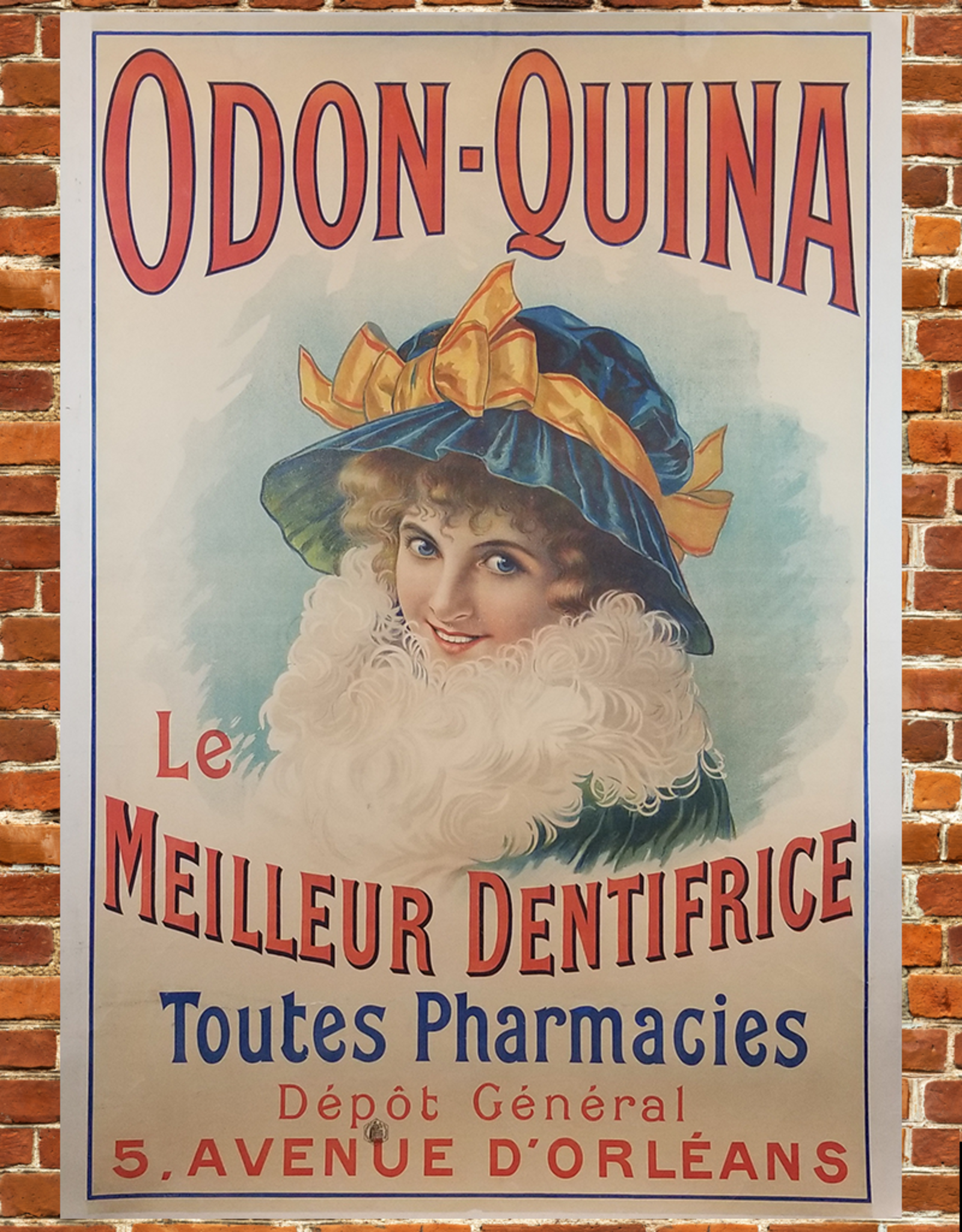 """SPV Odon-Quina """"Toothpaste"""" Lithograph Poster"""