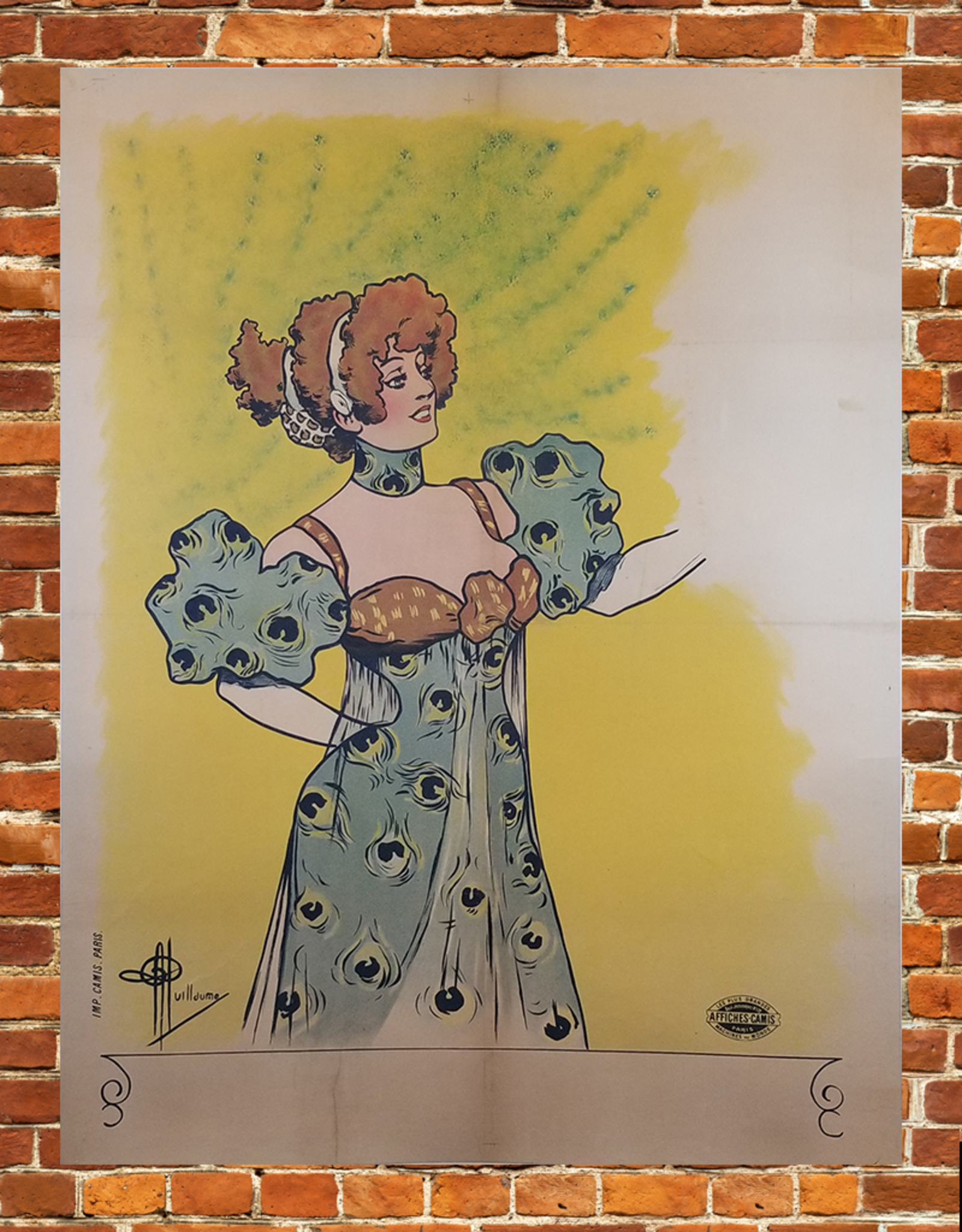 SPV Woman in Peacock Dress Lithograph Poster