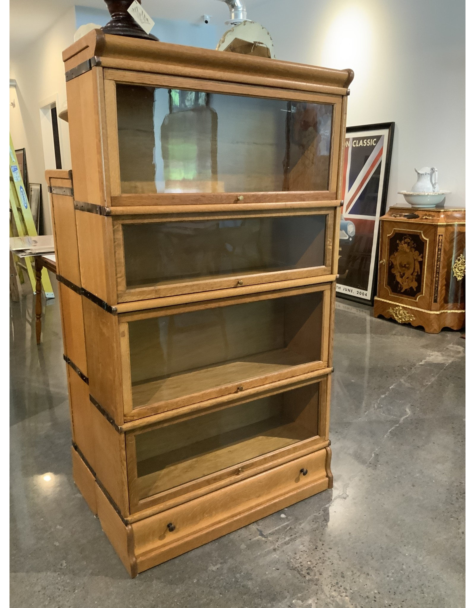 SPV Vintage  Four tier with bottom drawer Globe Wernicke Co. Lawyers Barrister Bookcase