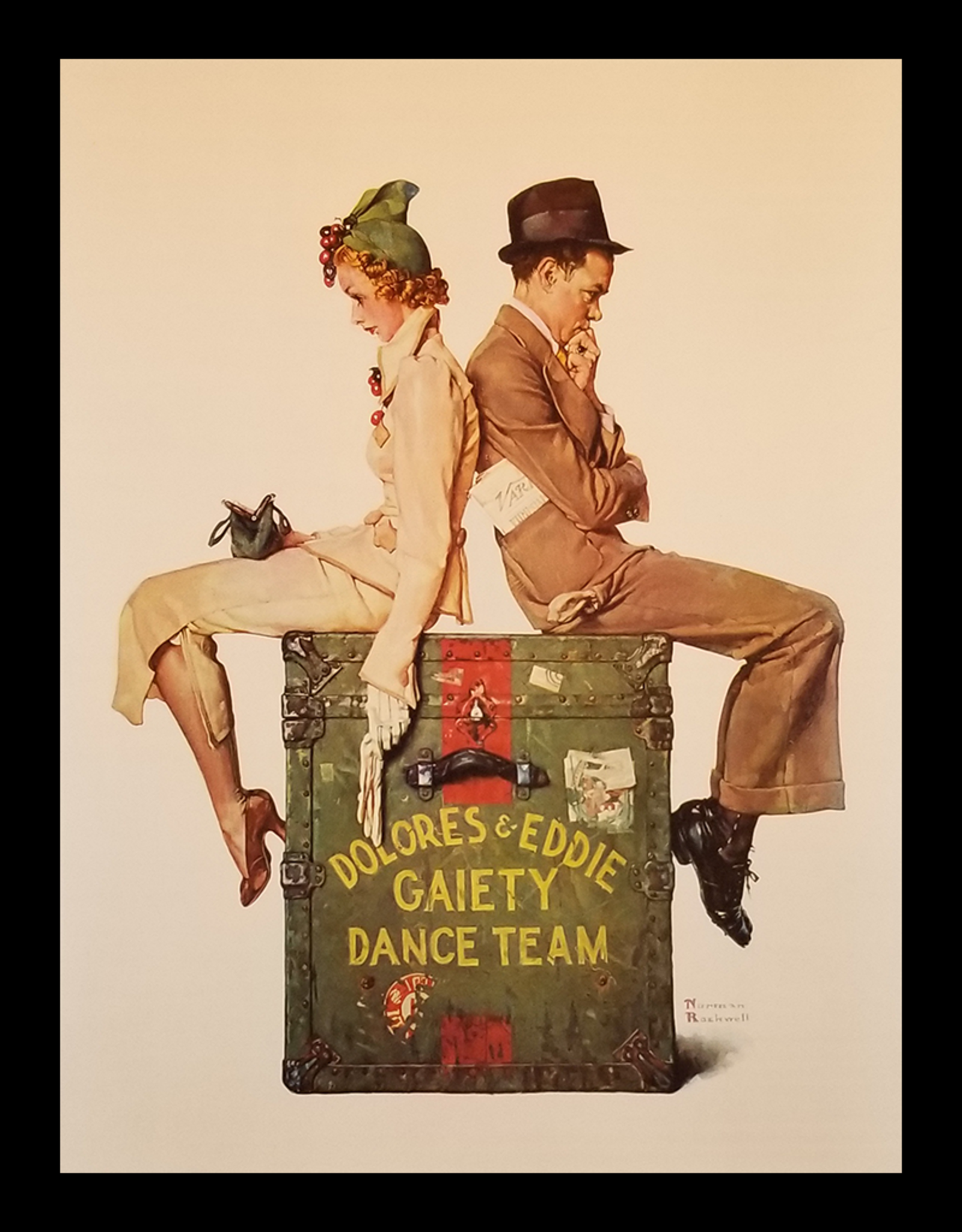 SPV Gaiety Dance Team by Norman Rockwell Lithographic Poster