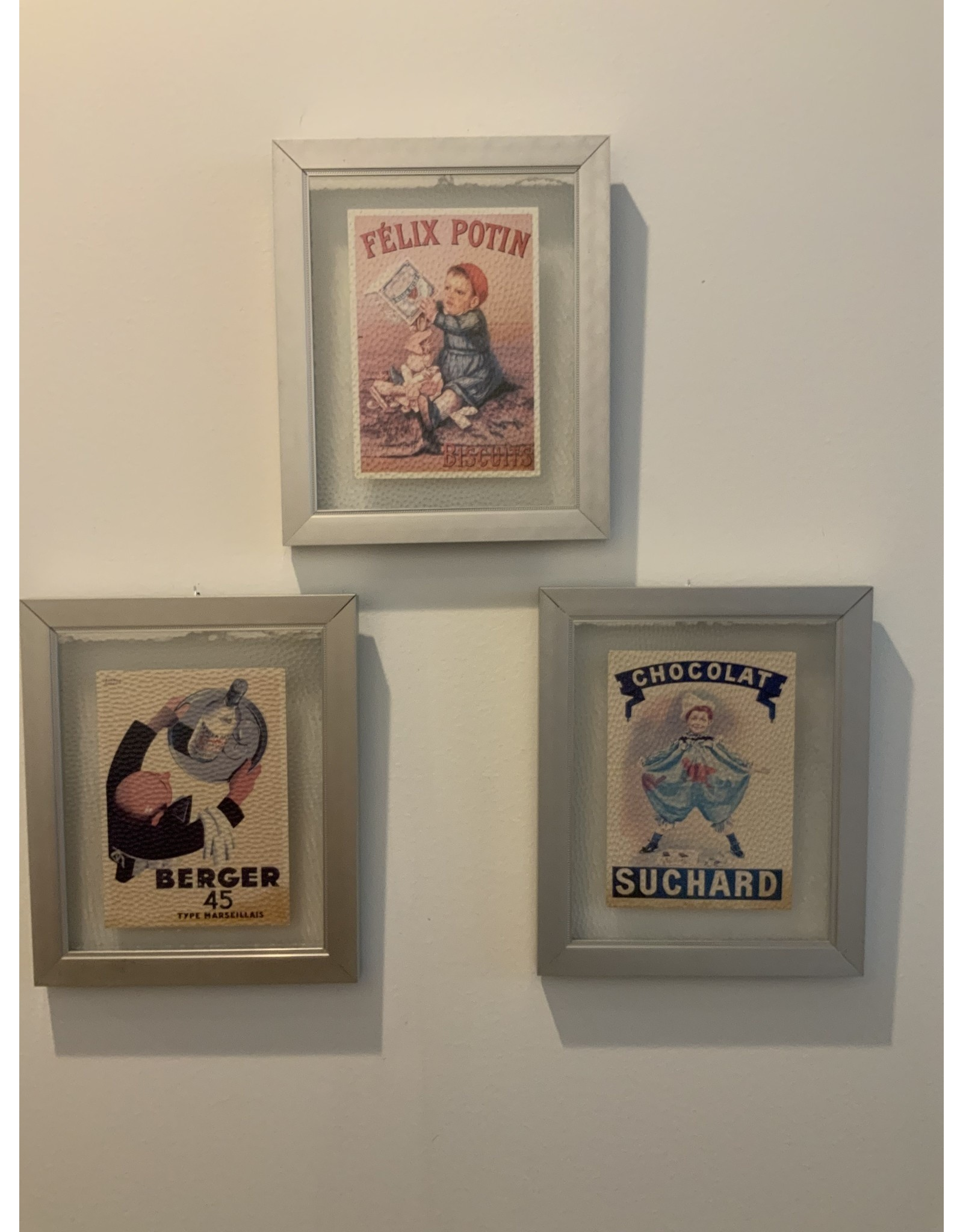 SPV Set of three frames vintage postcard adds