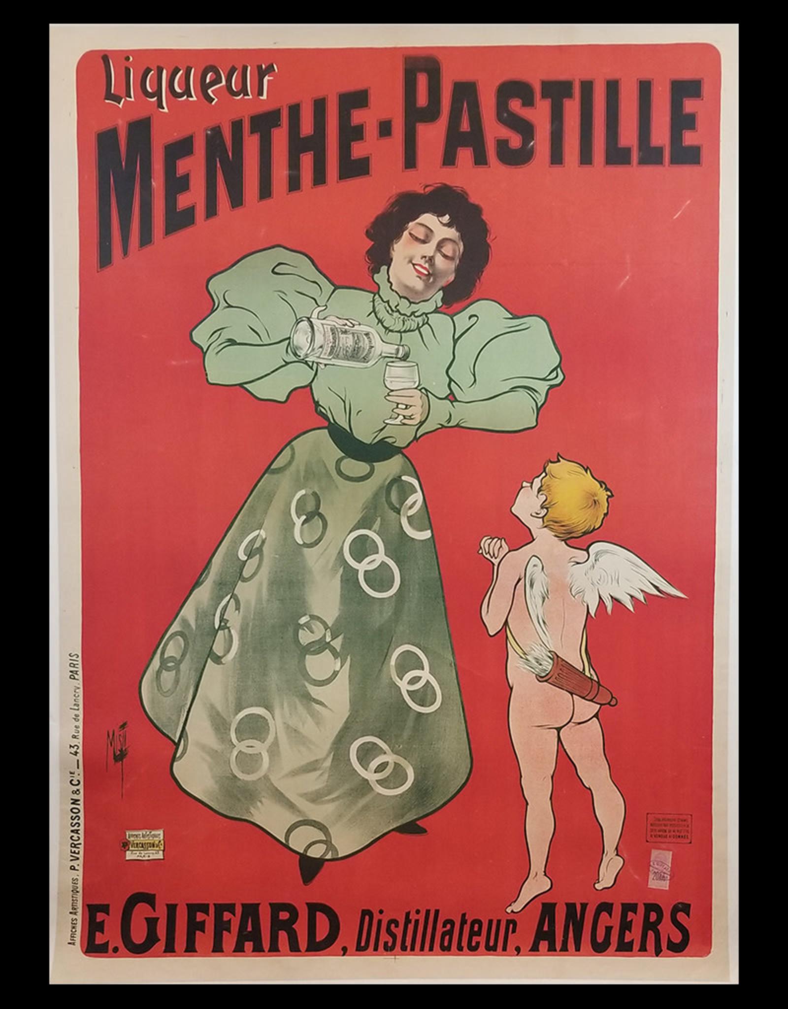 SPV Menthe-Pastille Liqueur Lithograph Poster