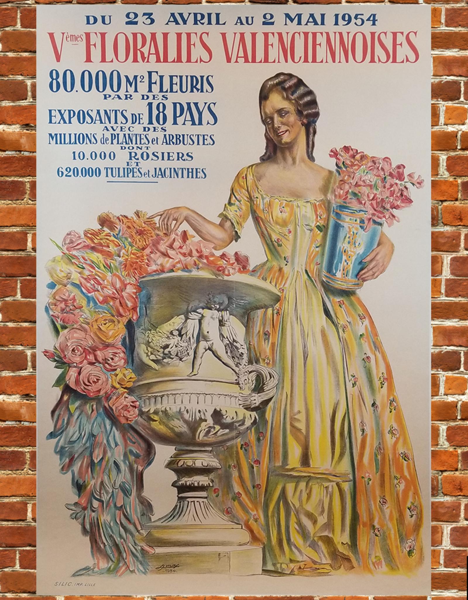 SPV Vèmes Floralies Valenceiennoises Lithograph Poster