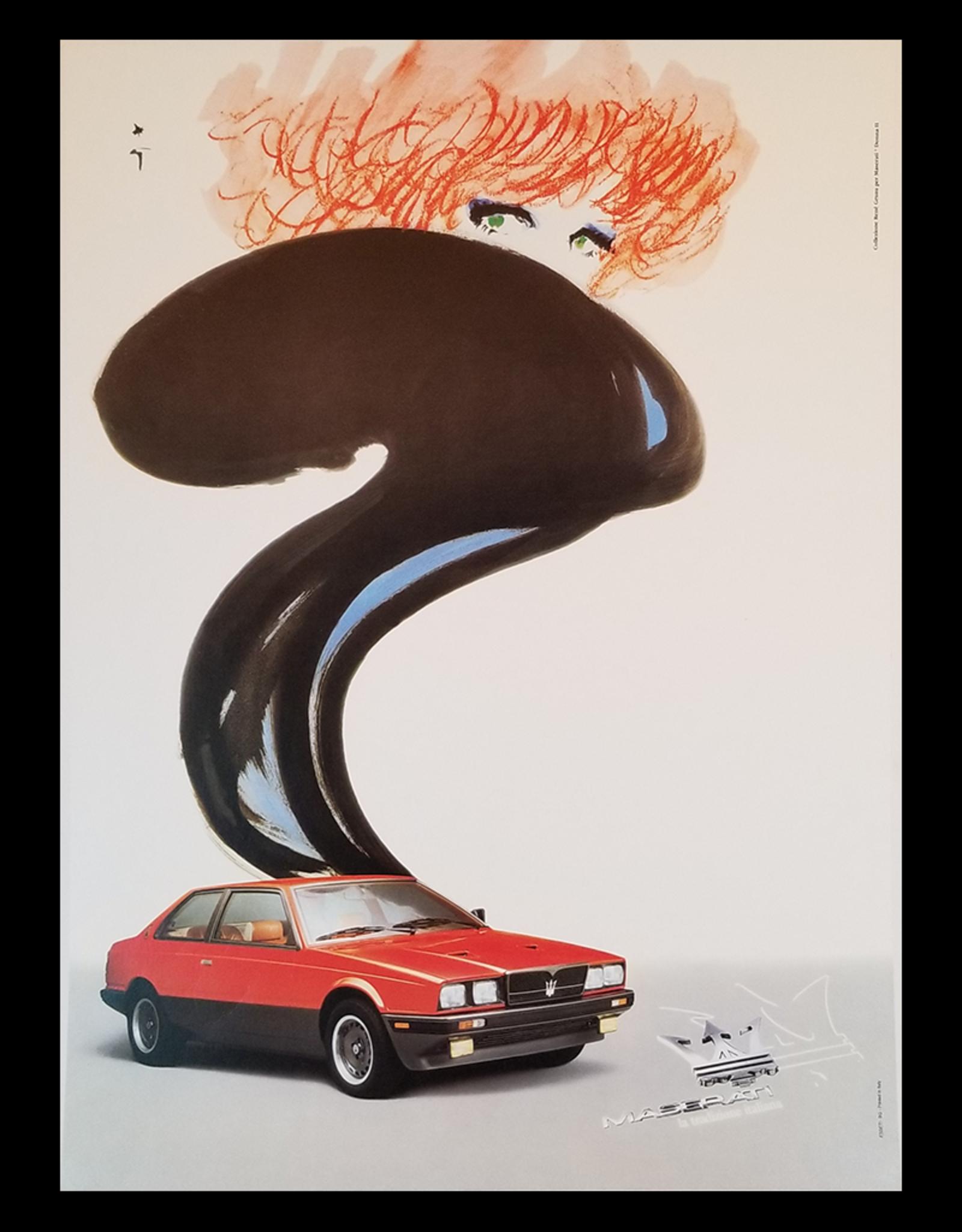 SPV Maserati Lithographic Poster