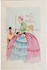 SPV French Woman and Ship - Original Lithograph