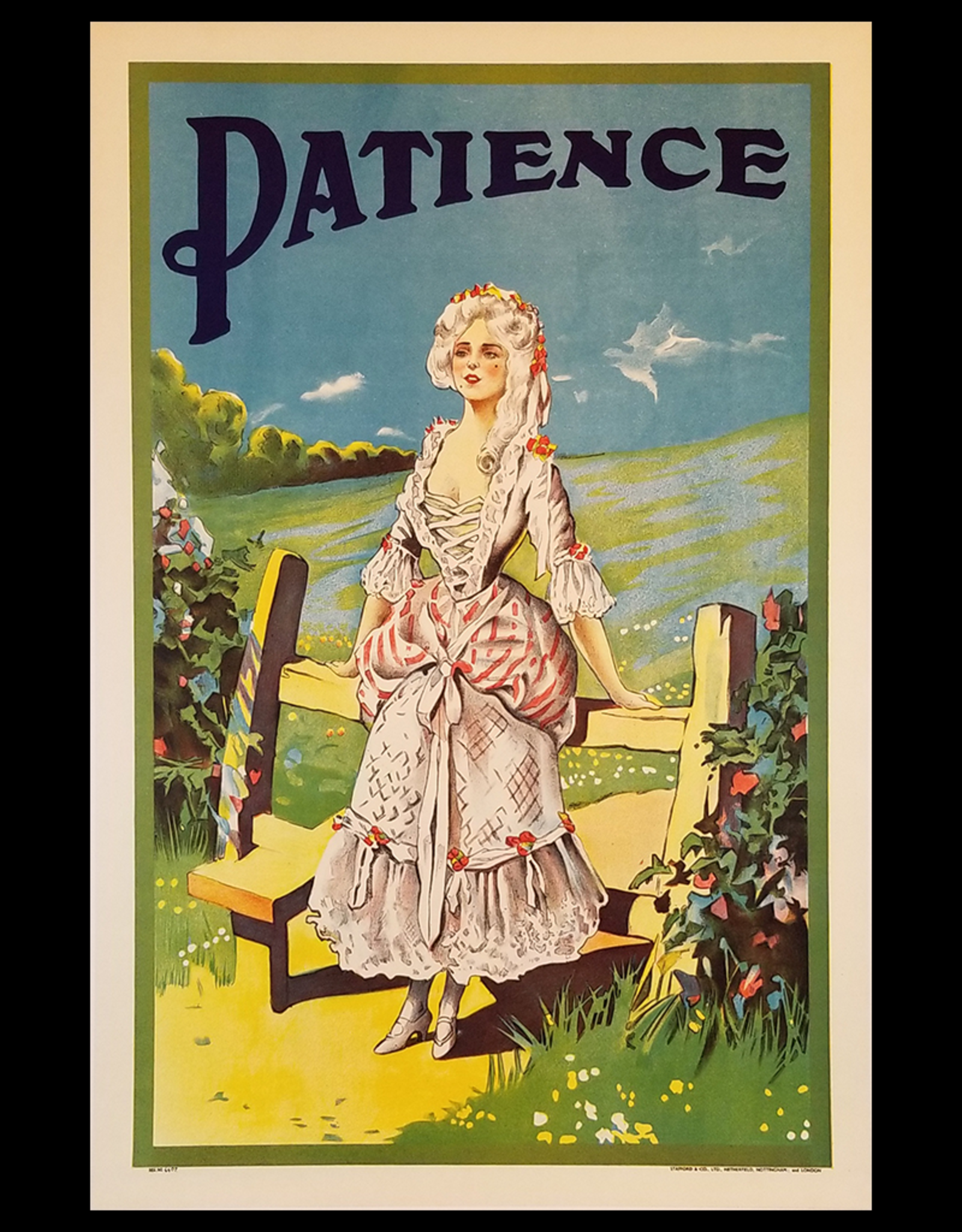 SPV Patience (Gilbert & Sullivan) Lithographic Poster