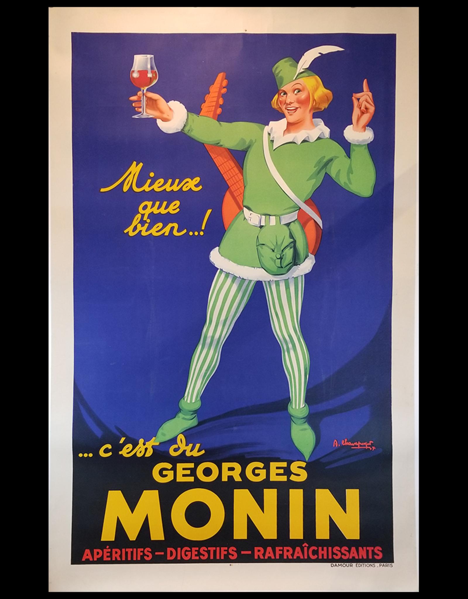 SPV Georges Monin Apéritifs Lithograph Poster