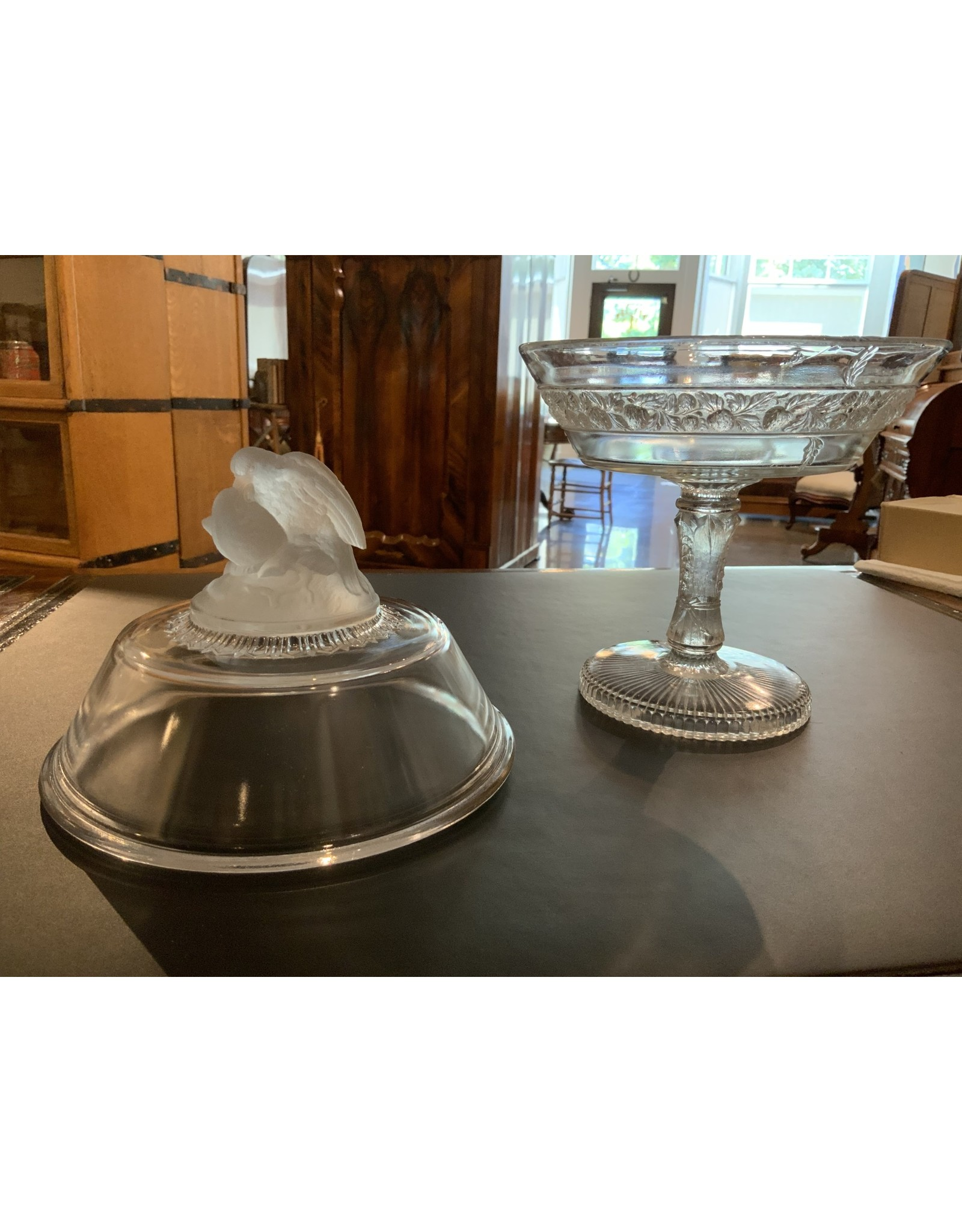 SPV Gillinder and Sons love birds covered dish
