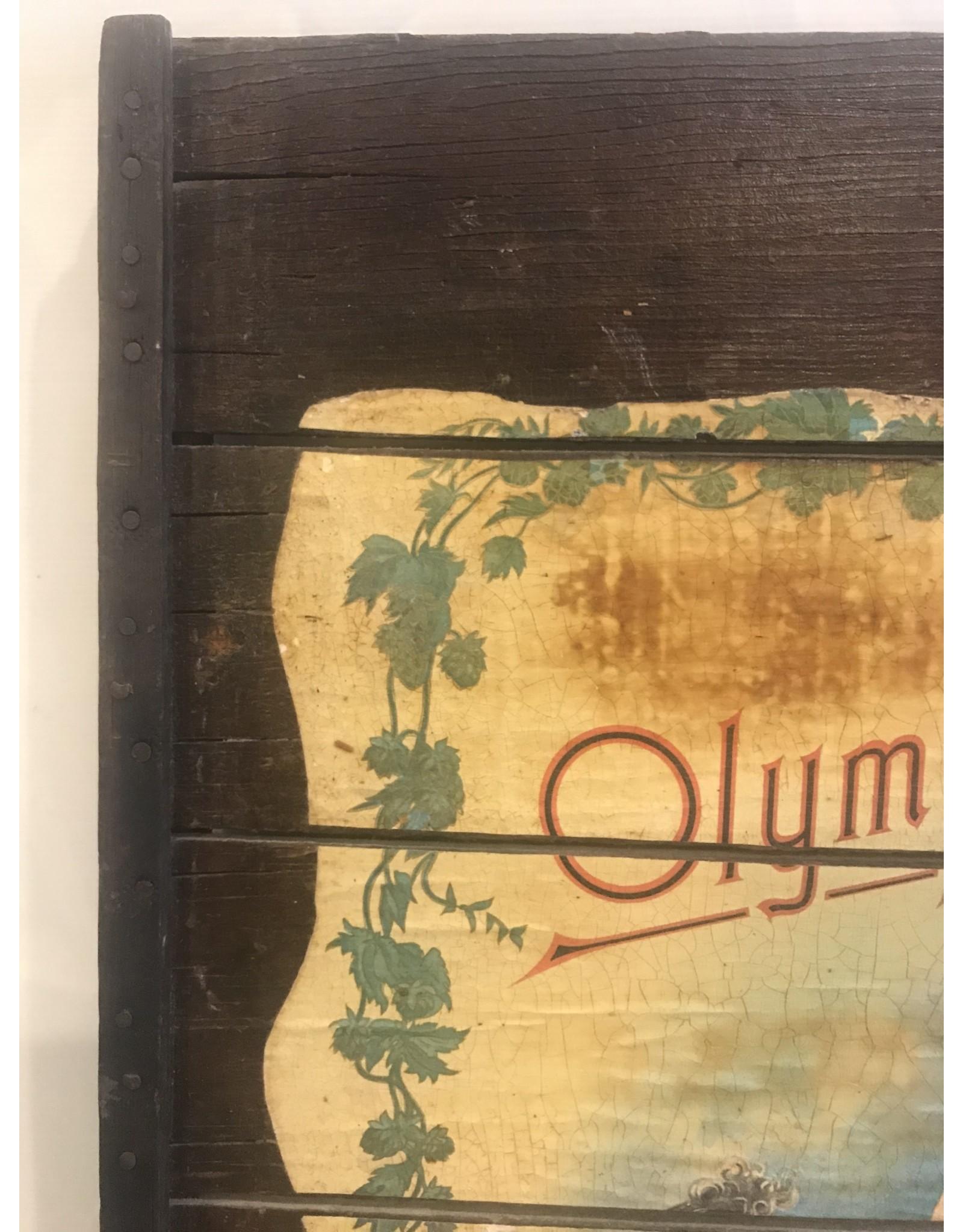 SPV Olympia Beer Wooden old plaque