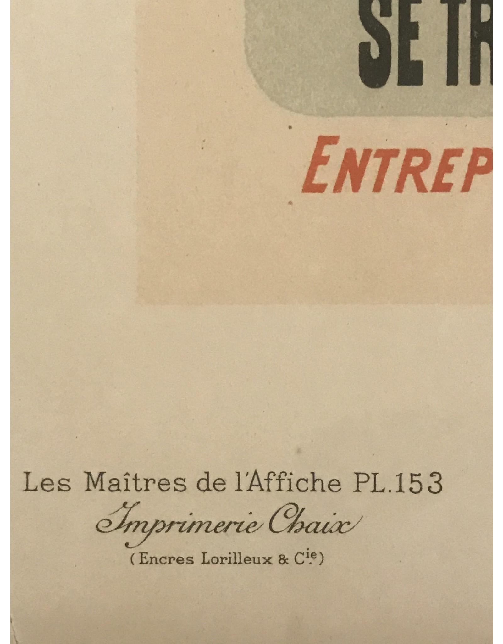 SPV Maitre de L'Affiche plate 153, Eau des Sirènes