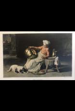 SPV Joseph Bail Print Kitchen Boy with cat