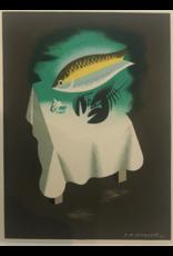 SPV Original Print A.M. Cassandre Menu Card for Maison Prunier