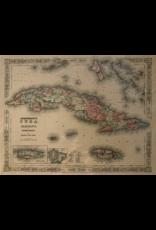 SPV Giclee Print of 1855 map of Cuba
