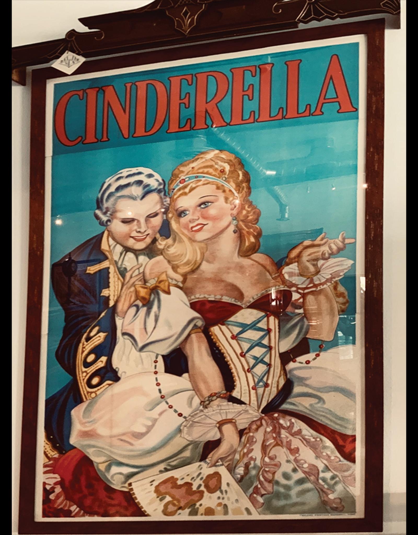 SPV Cinderella Pantomime Poster framed