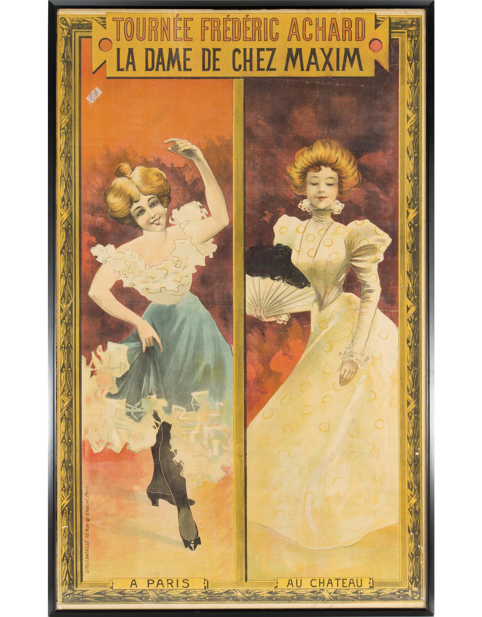 "SPV French poster for play ""La Dame De Chez"""