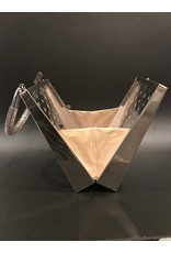 SPV Vintage Silver polkadot fishnet Lucite Handbag