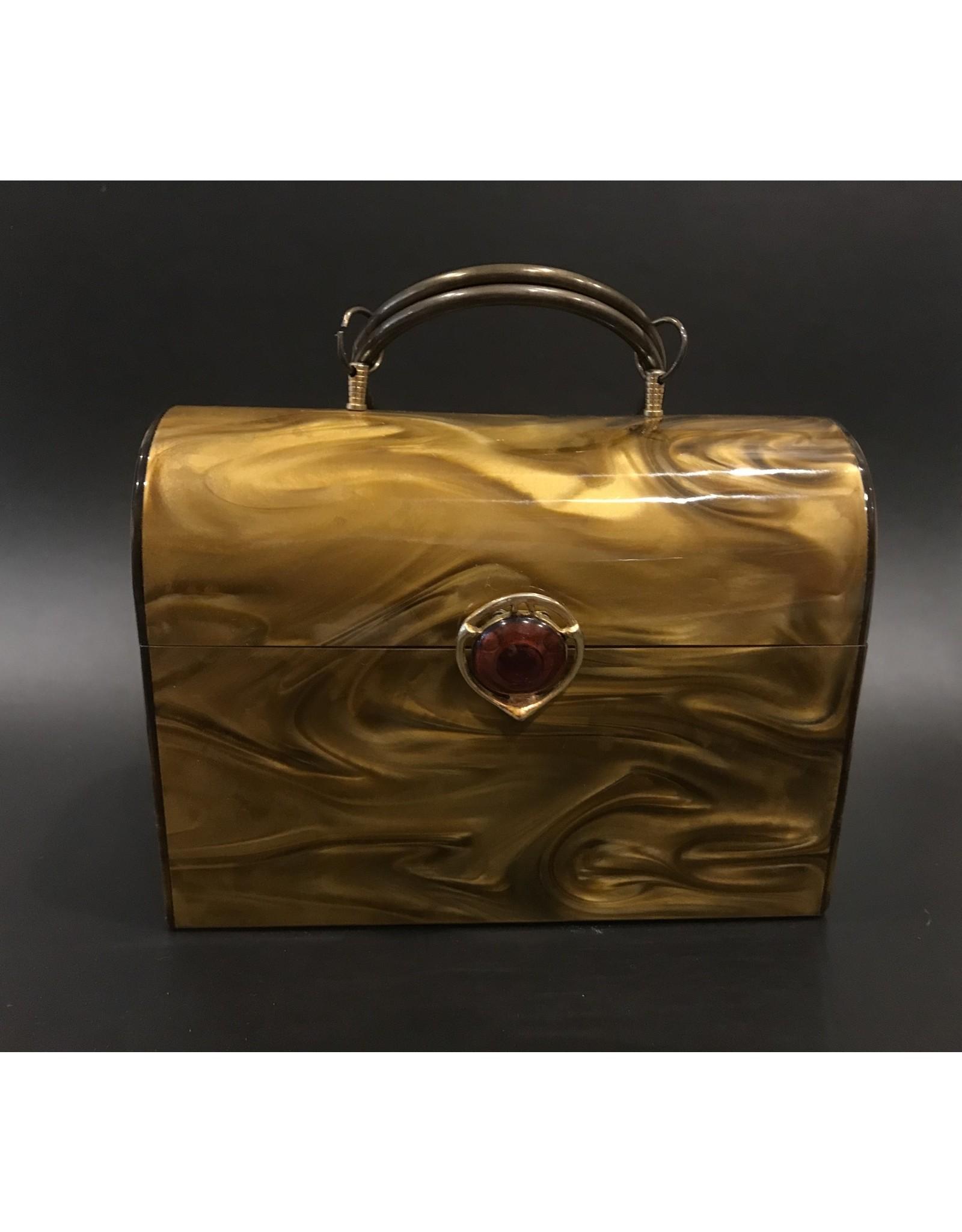 SPV Vintage Lucite Handbag with round Metal Handle