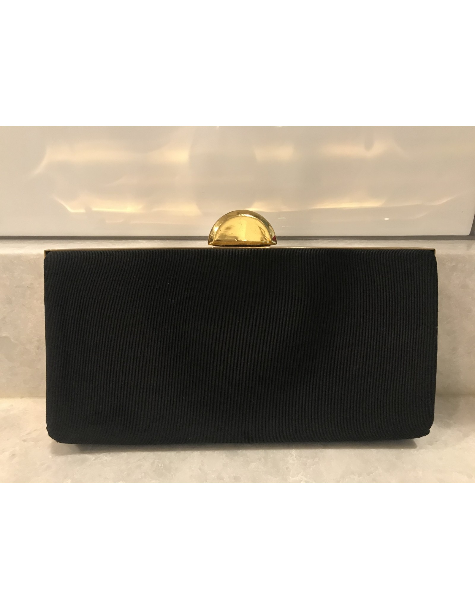 SPV Vintage Art-Deco black and Gold Clutch