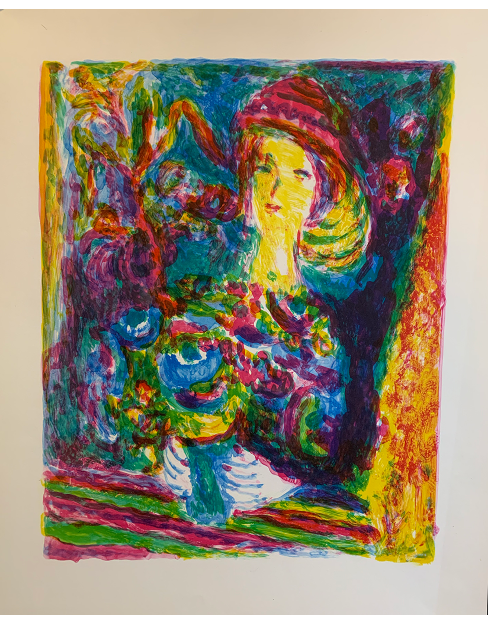 SPV Abstract Woman Holding Flowers