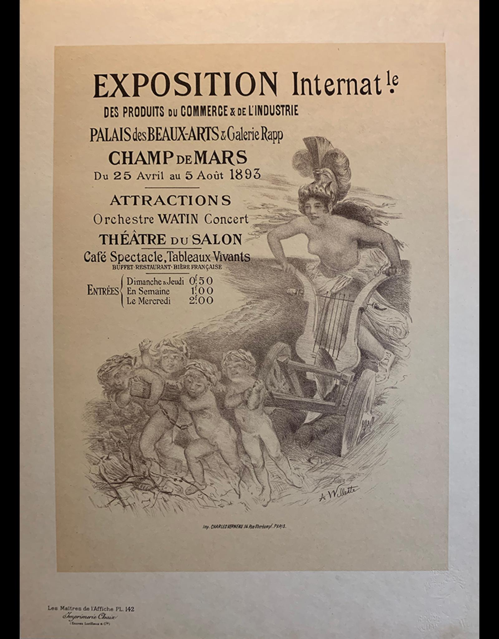 SPV Maitre de L'Affiche, plate 142, Exposition Internat