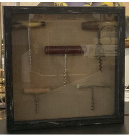 SPV 5 vintage Corkscrew shadow box