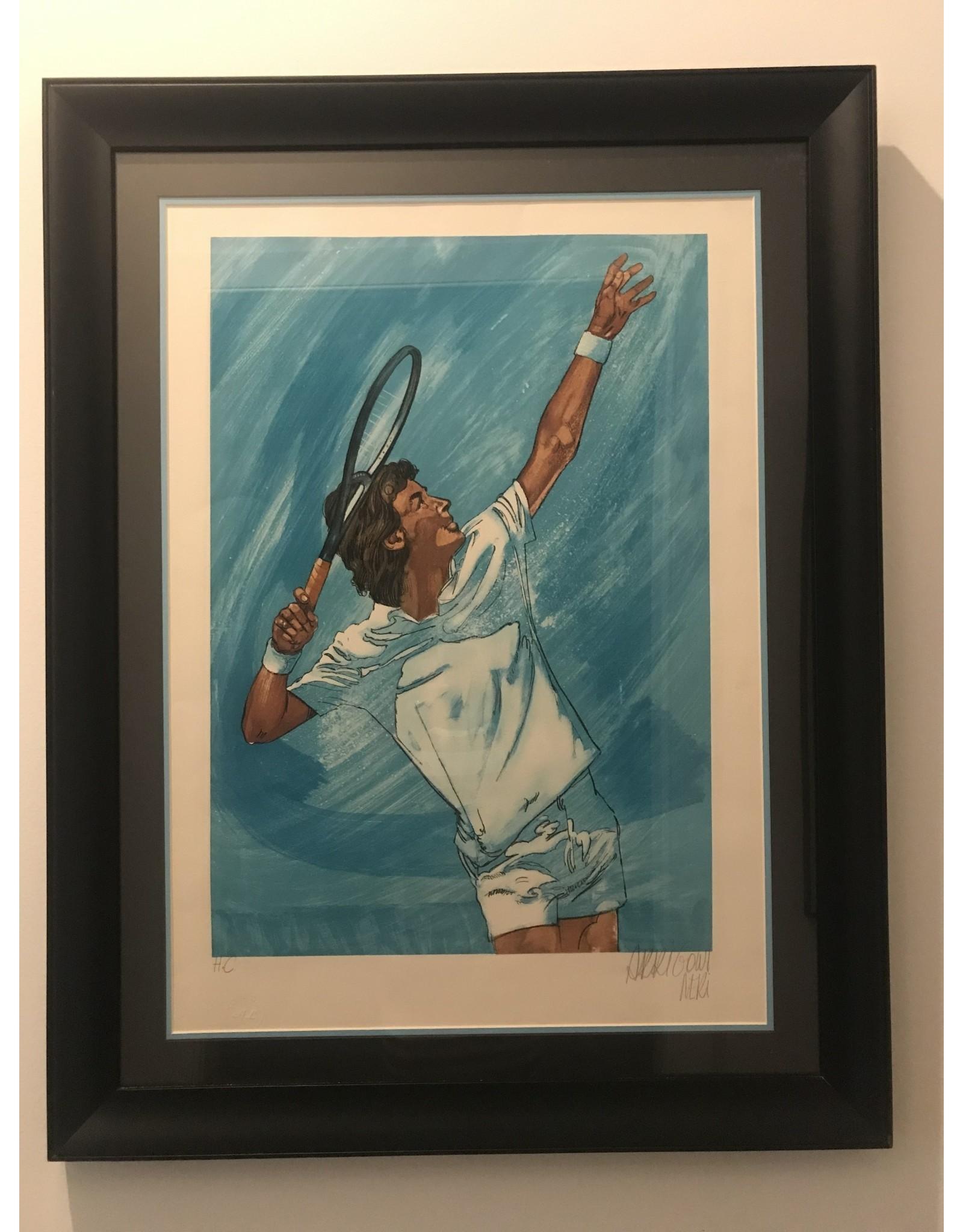 SPV Arrigoni Neri JF Tennis Framed Lithograph