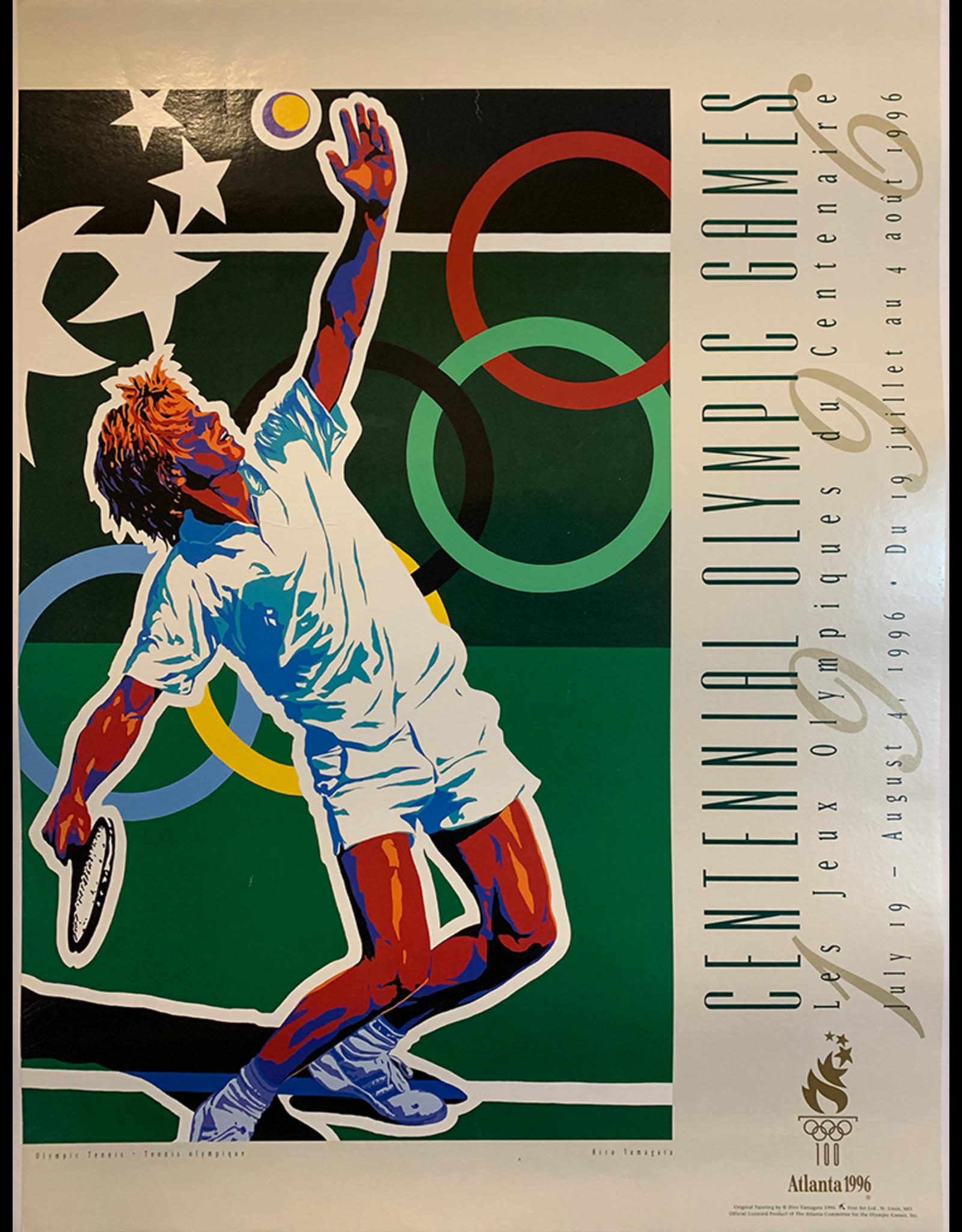 SPV Original Vintage 1996 Atlanta Olympics Poster Tennis (Yamagata)