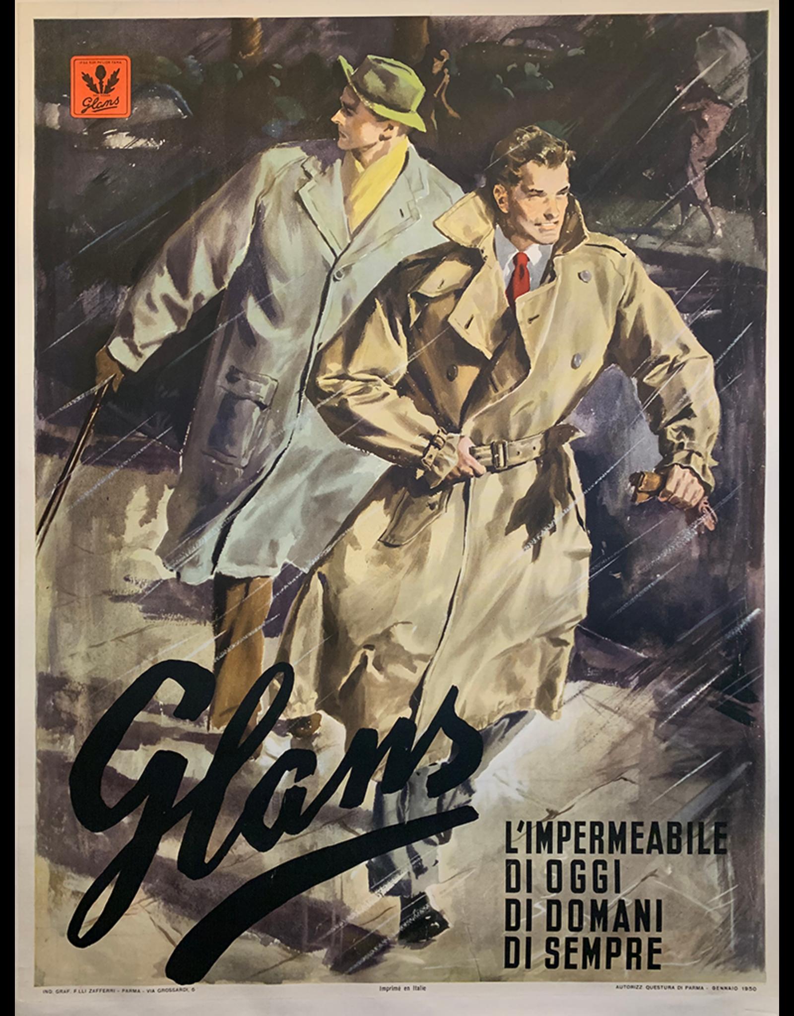 SPV Glams, Italian 1950 trench coat ad