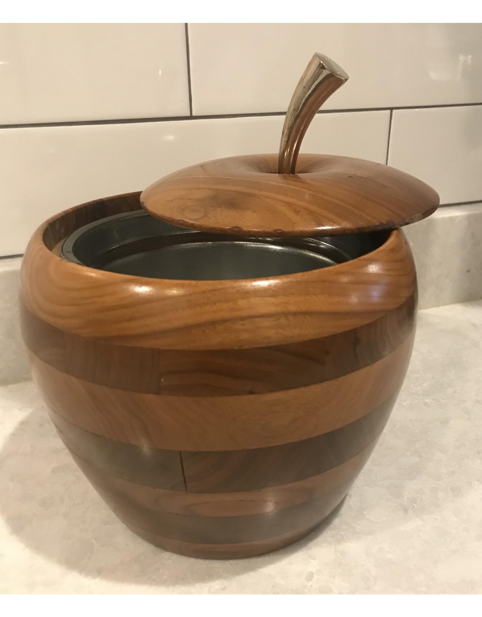 SPV Mid-Century Wood Apple Ice Bucket