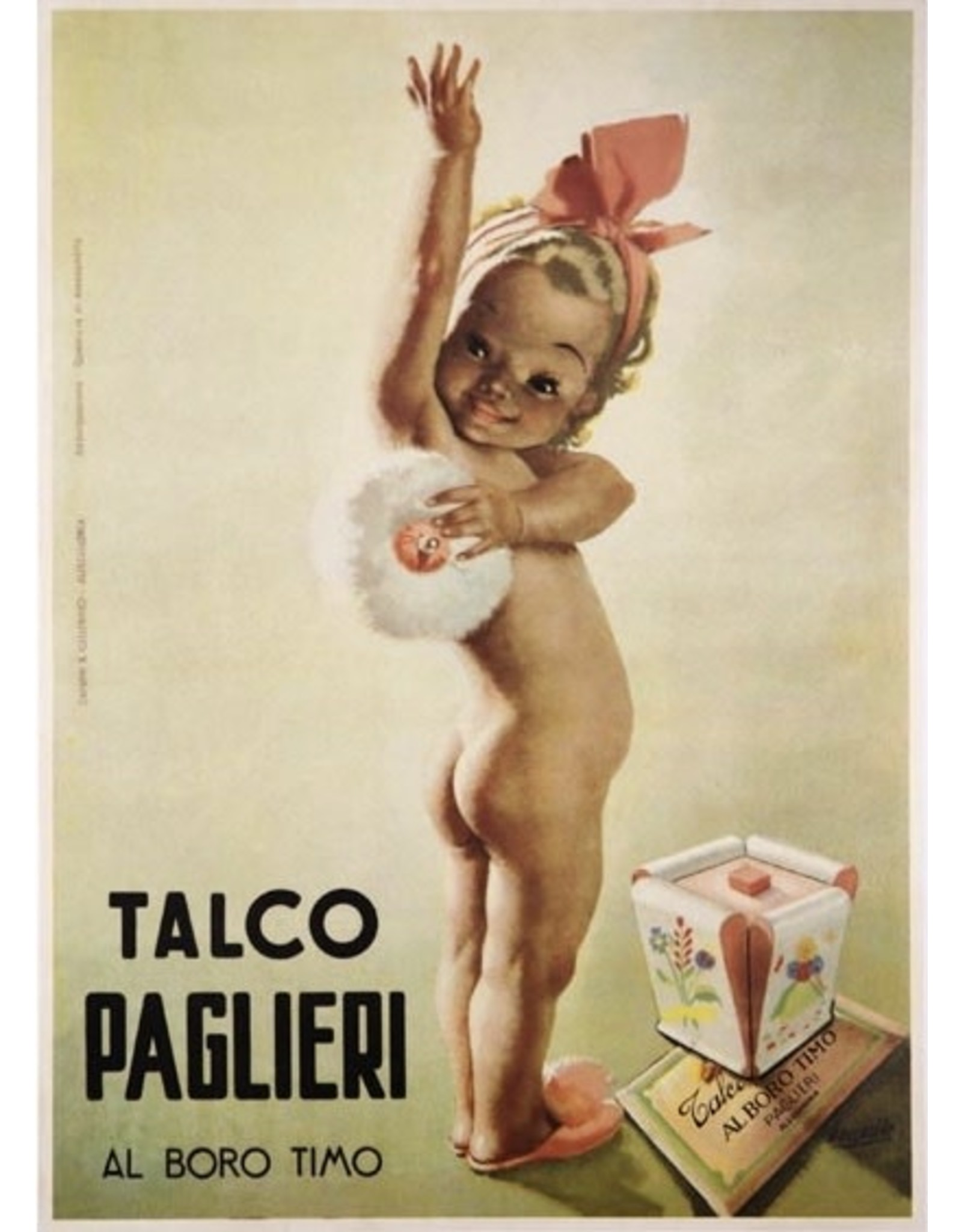 SPV Talco Paglieri Perfume poster 1950 by Gino Boccasile original vintage poster on linen