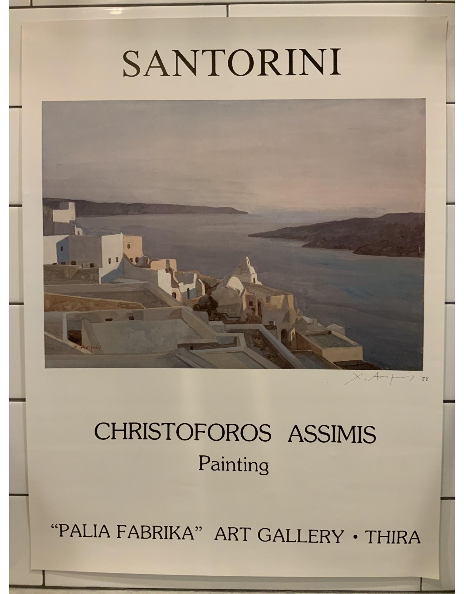 SPV Santorini Greece Poster