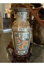 SPV Vintage Chinese Vase with Wood Stand Lg.