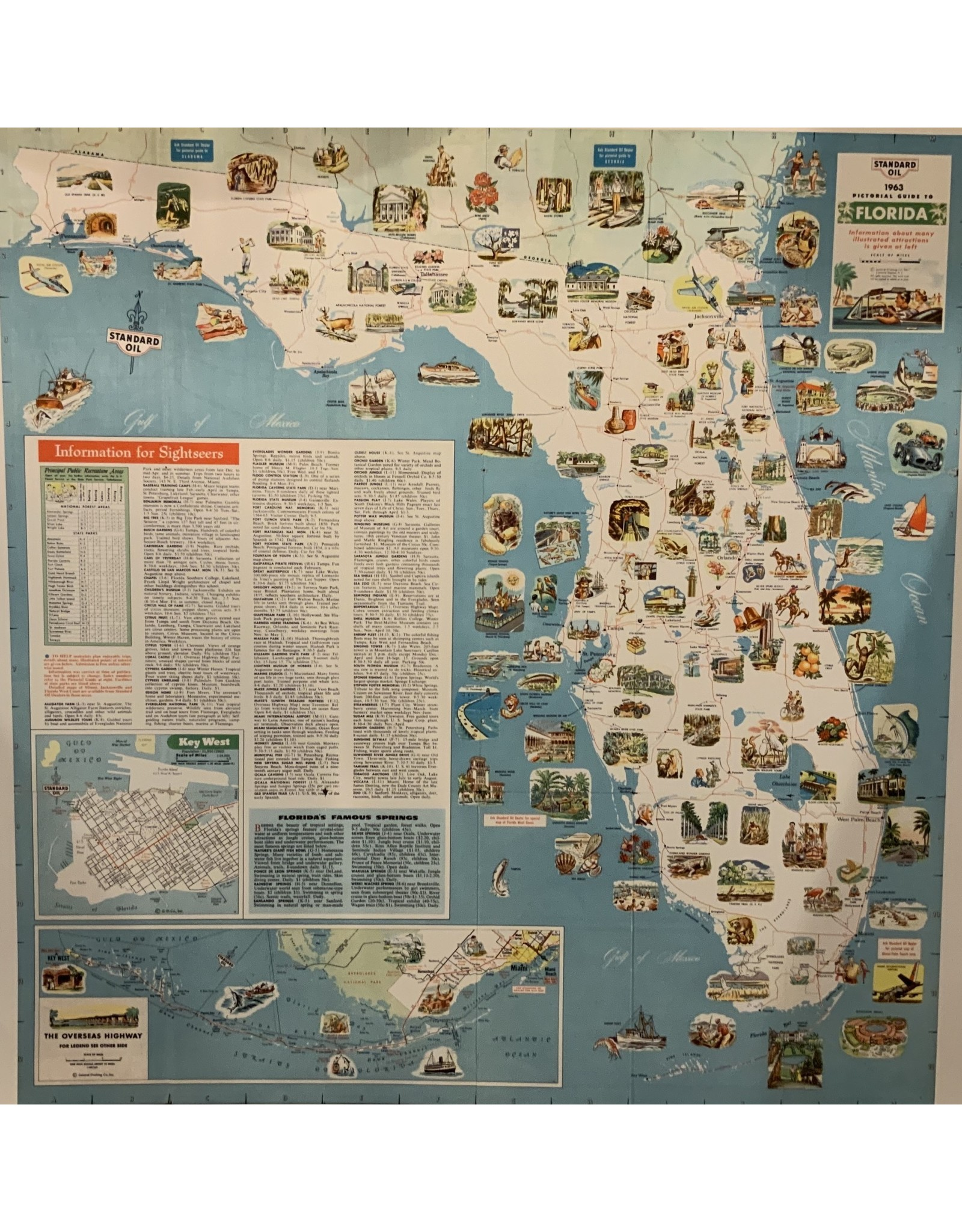 SPV Fine Art Giclee 1963 Map of Florida