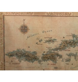 SPV Fine Art Giclee Map of the Virgin Islands