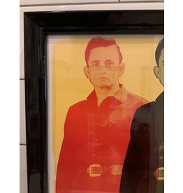 SPV Johnny Cash Hatch Show Print Lithograph Framed