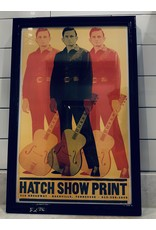 SPV Johnny Cash Hatch Show Print Lithograph Framed