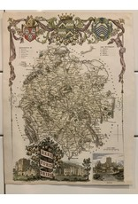 SPV HEREFORDSHIRE, Thomas Moule, Original Antique County Map c1830