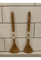 SPV Curly Maple and Bone Salad Servers