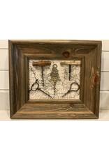 SPV Nautical framed  Antique corkscrews