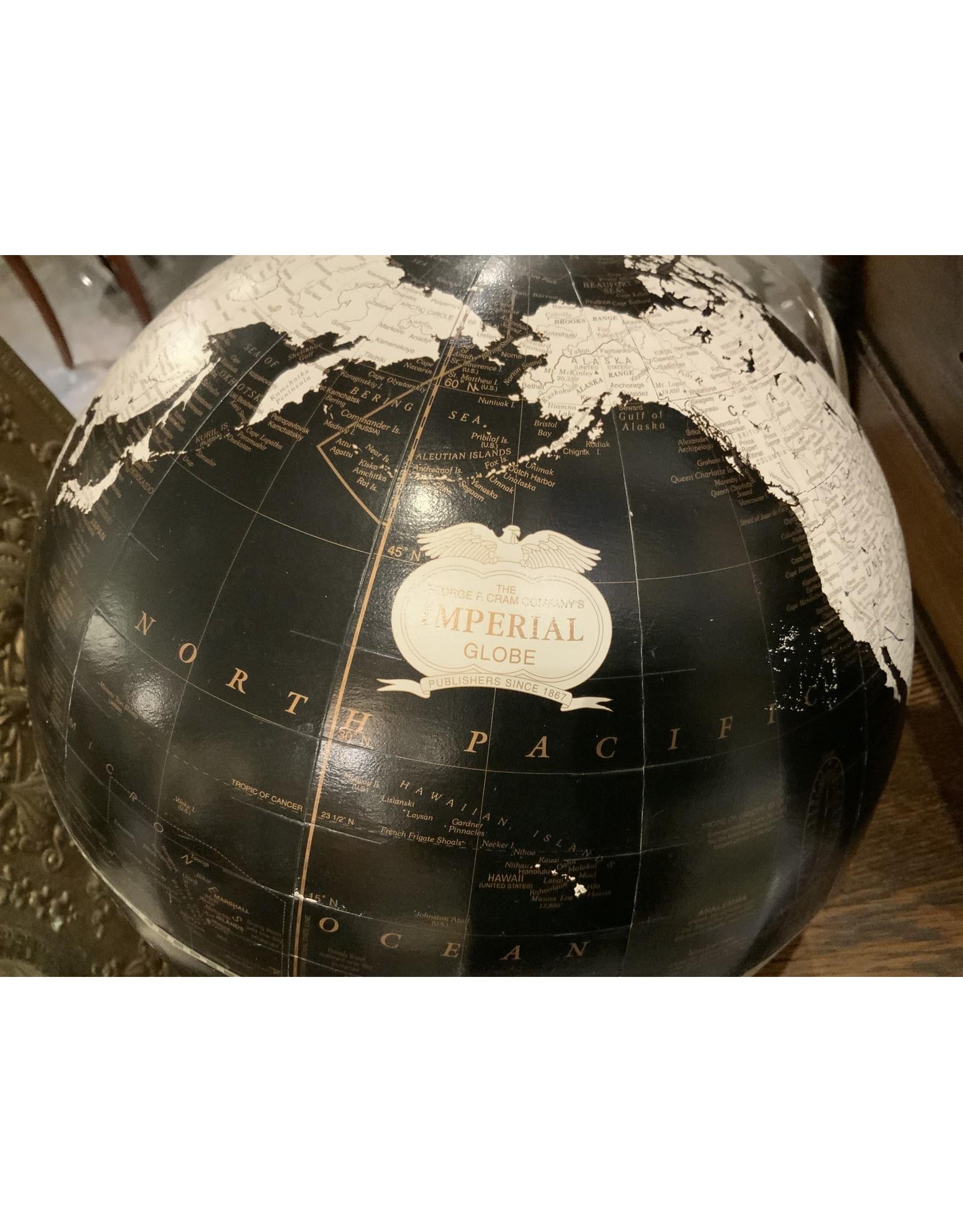 SPV The George F. Cram Co. Imperial Globe MCM Black and White