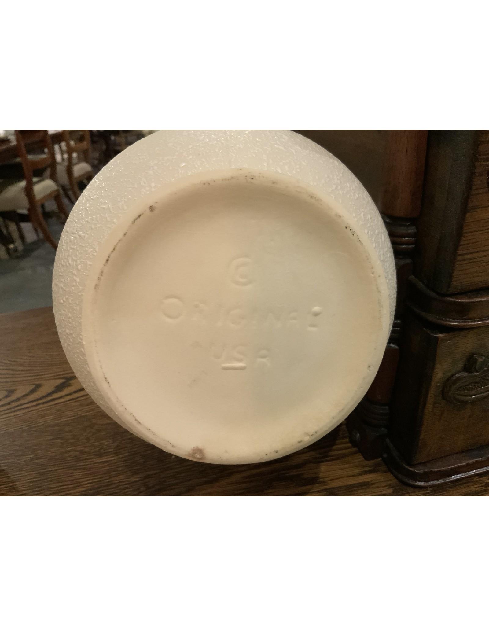 SPV California Pottery White Textured  Pitcher Vase