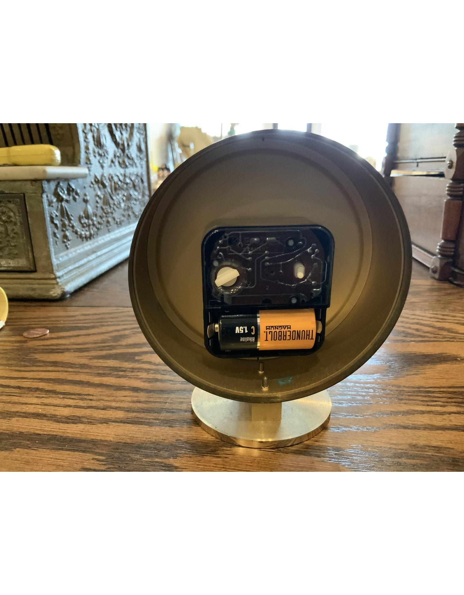 SPV Howard Miller MCM brass desk clock