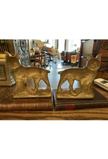 SPV Vintage Brass  Bulldog Bookends